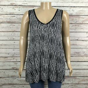 Lane Bryant Diamond Ikat Print Tank Top Shirt
